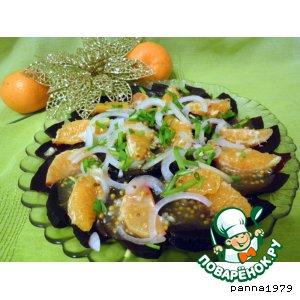 Рецепт: Свекольно-мандариновый салат