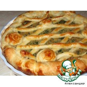 Рецепт Пирог с капустой и шпинатом