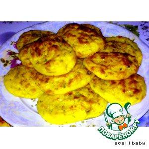 Рецепт Нежные картофельные лепешки с печенью