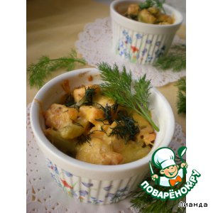 Рецепт Запеканка из риса и лосося