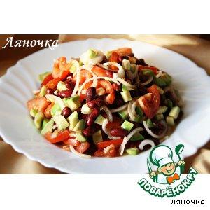 Рецепт Техасский салат с авокадо