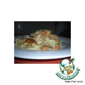 Рецепт Лазанья с тыквой и лососем