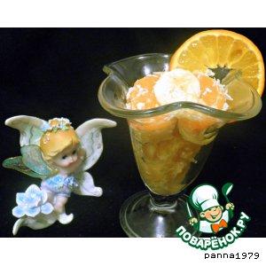 Рецепт Банановые кружочки с лимоном и мандаринами