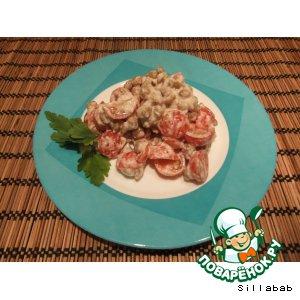 Рецепт Салат из нута, помидоров и тахини