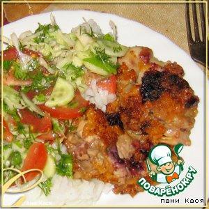 Рецепт Куриное филе в смородиновом маринаде