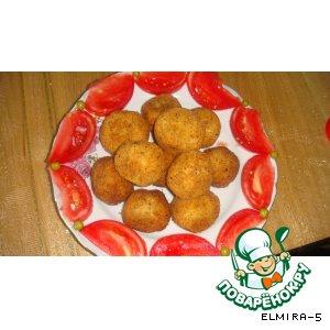 Рецепт Колобки из картошки, рыбы и горошка