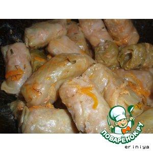 Домашний рецепт с фотографиями Острые соевые голубцы
