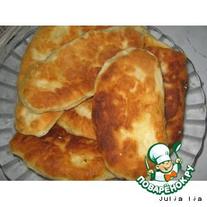 Рецепт Пирожки жареные с картошкой из творожного теста