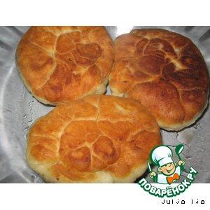 """Рецепт Жареные пирожки со сладкой начинкой """"Розочки"""""""