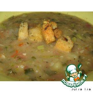 Рецепт Суп-пюре с кабачками и фасолью