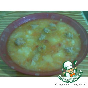 Рецепт Супчик с фрикадельками и рисом