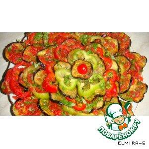Рецепт Салат из баклажанов и помидоров