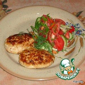 Рецепт Рыбно-кабачковые зразы с грибами