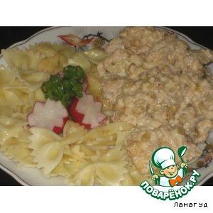 Рецепт Куриная грудка в сливках с кедровыми орешками