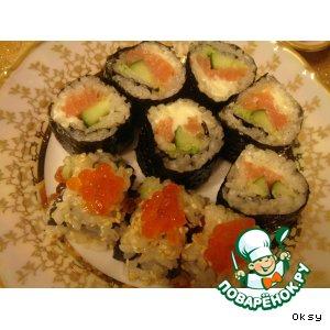 Рецепт Японские роллы, или маки-суши  в домашних условиях