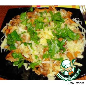 Рецепт Лисички с макаронами и сыром