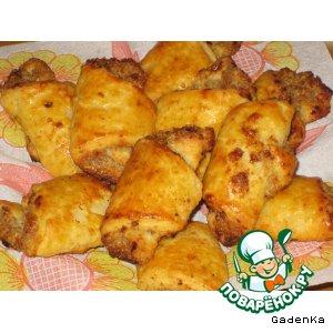 Рецепт Рогалики «Лимонные хрустяшки»