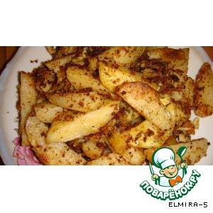 Рецепт Картошка с сухарями и с сыром