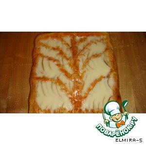 Рецепт Яблочный пирог с заливкой