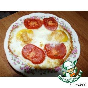 Готовим Яичница с помидорами простой рецепт приготовления с фотографиями