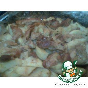 Рецепт Свинина с картошкой, запечeнная в рукаве