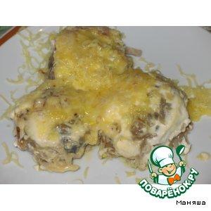 Рецепт Котлеты с грибами, панированные в тертом картофеле