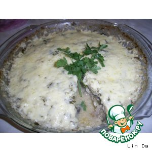 Рецепт Запеканка с фаршем, баклажанами, капустой и рисом