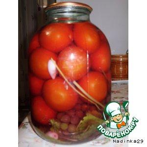 Готовим Маринованые помидоры с виноградом простой пошаговый рецепт с фото