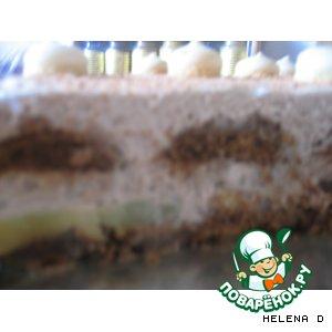 Рецепт Пряничный тортик без выпечки с шоколадным кремом