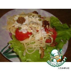 Рецепт Салат из бананов и спагетти