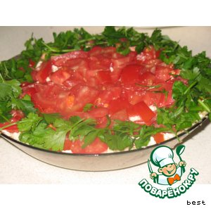 Рецепт Легкий салат с крекером
