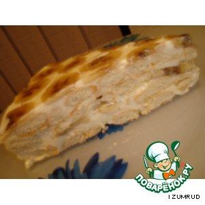 """Рецепт Холодный тортик из печенья """"рыбки"""""""