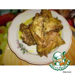 Рецепт Куриные шейки в кукурме
