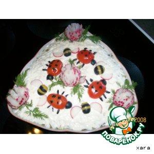 Рецепт Гвоздика, пчелка и божья коровка  (украшения для салатов)