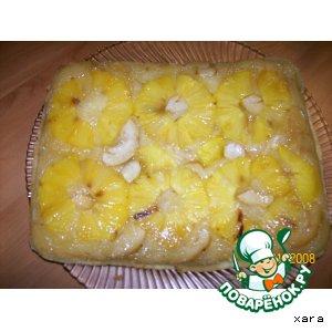 Рецепт Глазированный ананасовый пирог