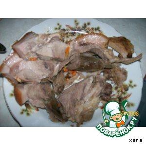 Рецепт Шпигованная свинина в рукаве