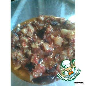 Рецепт Баклажаны и патиссон  в томатном соке