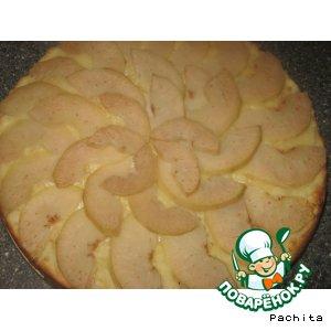 Рецепт Творожный грушевый пирог с орехами