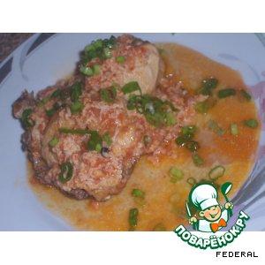Рецепт Чихирта из курицы, с помидорами и яйцом