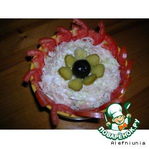 Рецепт Салат из капусты с тунцом
