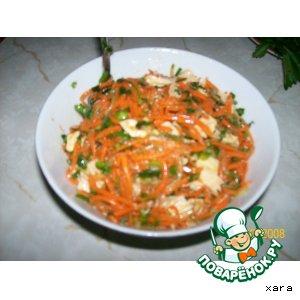 Рецепт Салат с соевой спаржей
