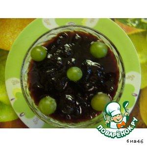 Рецепт Сливовый джем с виноградным соком и ванильным ароматом
