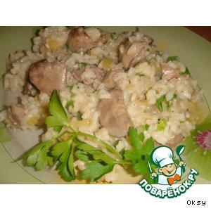 Рецепт Ризотто с куриными печенками