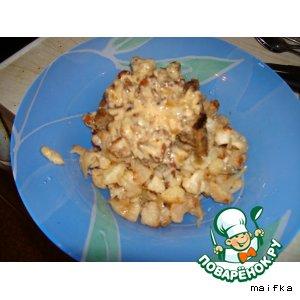 Рецепт Свинина в сливочно-грибном соусе