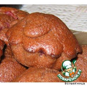 Рецепт Маффины шоколадные с вишней