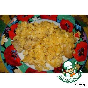Рецепт Макароны с курицей под сырным соусом