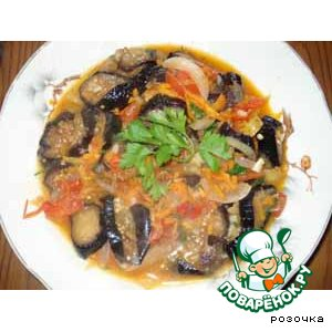 Рецепт Соте из баклажан