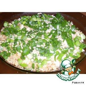 Рецепт Куриный салатик с грецкими орешками