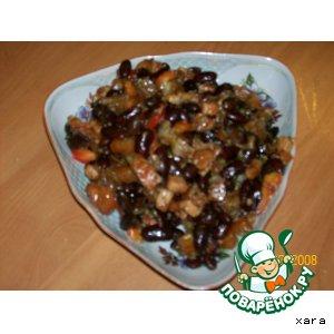 Салат из красной фасоли с беконом пошаговый рецепт с фотографиями готовим