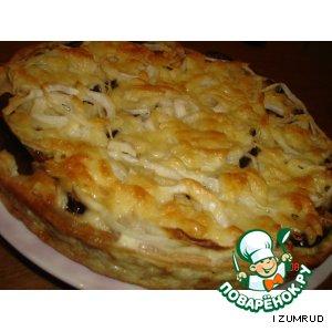 Рецепт Открытый пирог с баклажанами